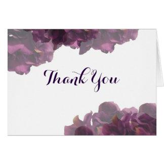 Obrigado floral roxo você notas cartão de nota