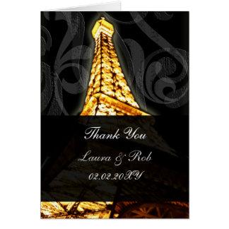 Obrigado francês do casamento da torre Eiffel do Cartoes
