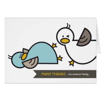 Obrigado gêmeo do anúncio do nascimento dos patos