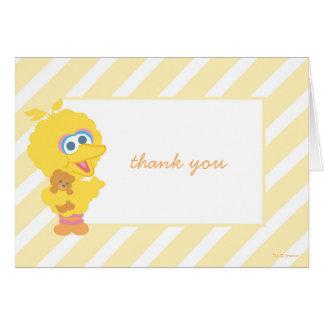 Obrigado grande do chá de fraldas do pássaro você cartão