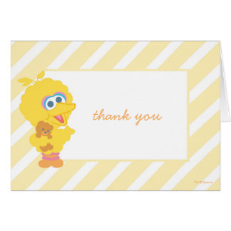 Obrigado grande do chá de fraldas do pássaro você cartão de nota