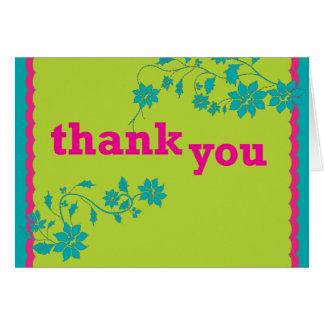 Obrigado guloseima floral cartão comemorativo