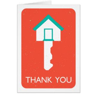obrigado housekey cartão de nota