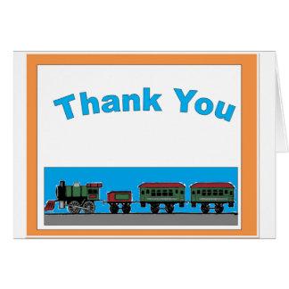 Obrigado ingénuo do trem você cartão comemorativo