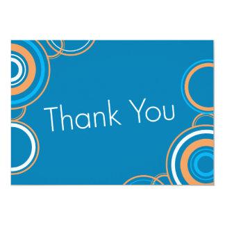 Obrigado - laranja & azul convite 12.7 x 17.78cm