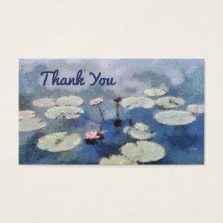 Obrigado lírio de água que pinta lírios florais cartão de visitas
