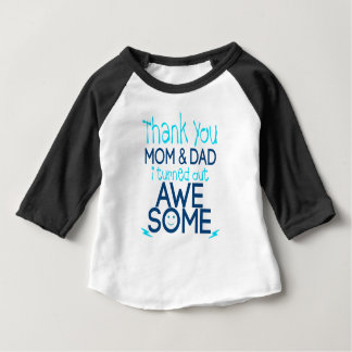 obrigado mamã e pai que eu despejei impressionante camiseta para bebê
