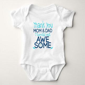 obrigado mamã e pai que eu despejei impressionante camisetas