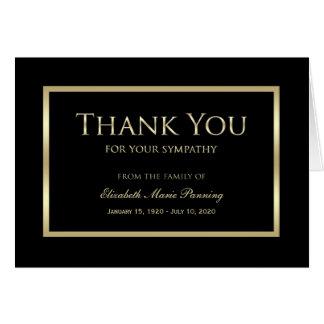 Obrigado memorável da simpatia você ouro do preto cartão de nota