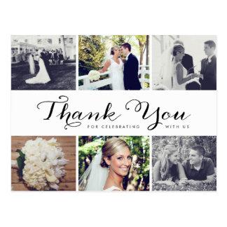 Obrigado múltiplo do casamento da foto você cartão