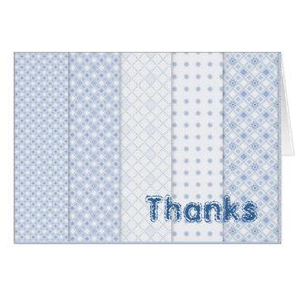 Obrigado notas cartão de nota