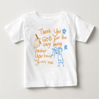 Obrigado o deus para meu pai (para meninas) t-shirt