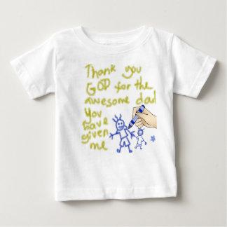 Obrigado o deus para meu pai (para meninos) tshirts