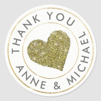 obrigado o favor/casamento com coração do ouro adesivo