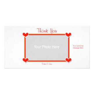 Obrigado os corações 4 você cartão com foto