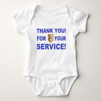 Obrigado para seu serviço t-shirt