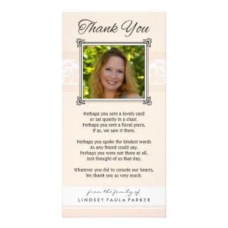 Obrigado pêssego memorável & o cartão com fotos