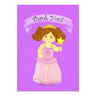 Obrigado princesa Partido de Cards~Girls Convite Personalizado