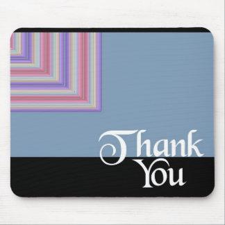 Obrigado quadrado azul mouse pad