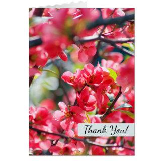 Obrigado que bonito do primavera das flores cartão de nota