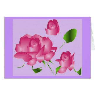 """""""Obrigado que cor-de-rosa do falecimento da lavand Cartão Comemorativo"""