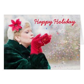 Obrigado que feliz do feriado você nota cartão