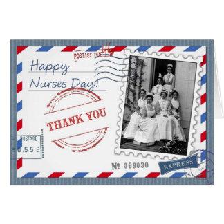Obrigado que nutre. Cartões do dia das enfermeiras