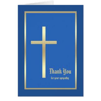 Obrigado religioso vazio da simpatia você cartão d