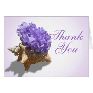 Obrigado roxo dos Hydrangeas do litoral você Cartão De Nota