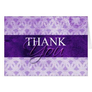 Obrigado roxo você cartões