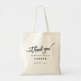 Obrigado sacola do presente de casamento bolsa tote