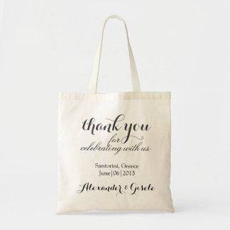 Obrigado sacola feita sob encomenda do presente do sacola tote budget