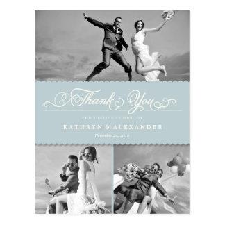 Obrigado Scalloped guloseima do casamento da banda Cartão Postal