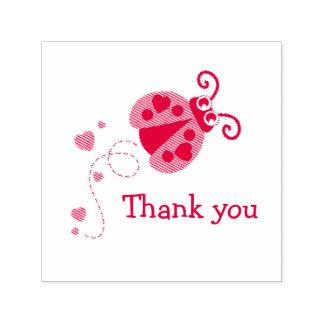 Obrigado selo dos corações da joaninha do joaninha carimbo auto entintado