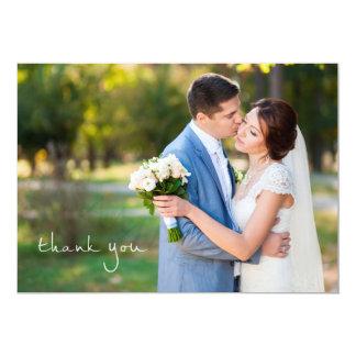 Obrigado simples do casamento da foto você cartões convite 12.7 x 17.78cm