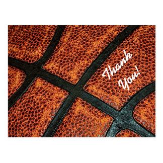 Obrigado teste padrão retro velho do basquetebol cartão postal
