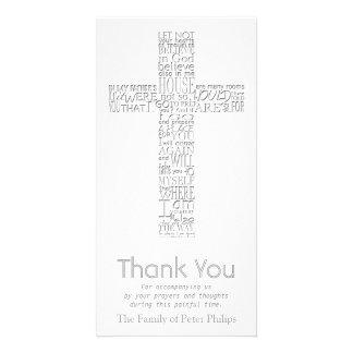 Obrigado transversal cristão da simpatia de John Cartão Com Foto