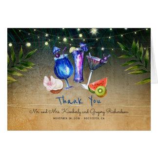 Obrigado tropical da praia do evento especial dos cartão