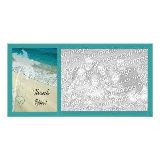 Obrigado tropical da praia você cartão com foto