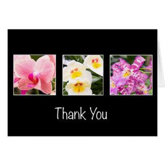 Obrigado variedade de cartão das orquídeas
