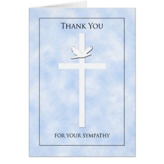 Obrigado vazio da simpatia da cruz & da pomba você cartao
