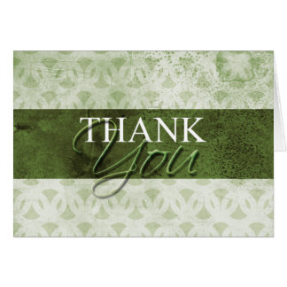 Obrigado verde sujo você cartões