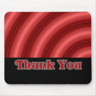 Obrigado vermelho do gótico você mouse pad