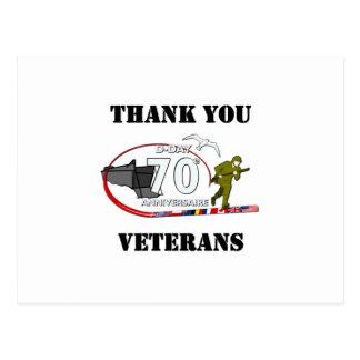 Obrigado veteranos - Thank you veteranos Cartão Postal