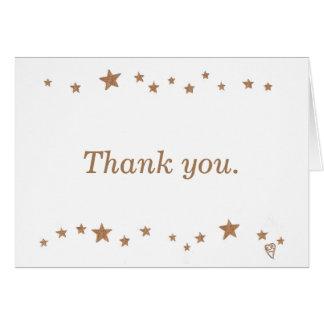 Obrigado vívido do aniversário das estrelas 50th cartão