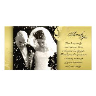 Obrigado Wedding você cartão com fotos - textura p
