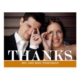 Obrigados corajosos que Wedding cartões de agradec Cartão Postal