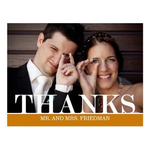 Obrigados corajosos que Wedding cartões de agradec Cartao Postal