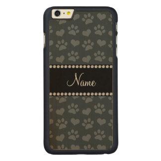 Obscuridade conhecida personalizada - corações e capa para iPhone 6 plus de carvalho, carved®