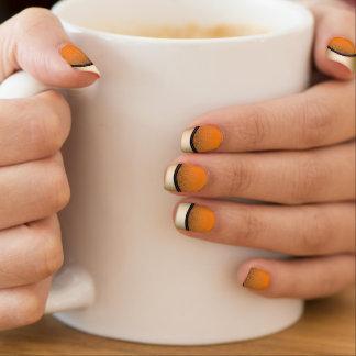 Obscuridade elegante da borda do ouro - laranja nail wrap
